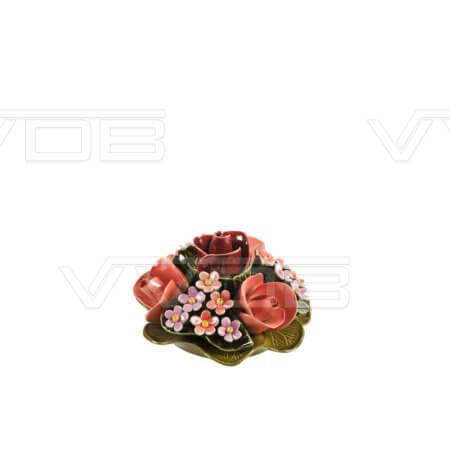 Steenhouwerij en grafzerken VVDB Porseleinen bloemstuk 451003
