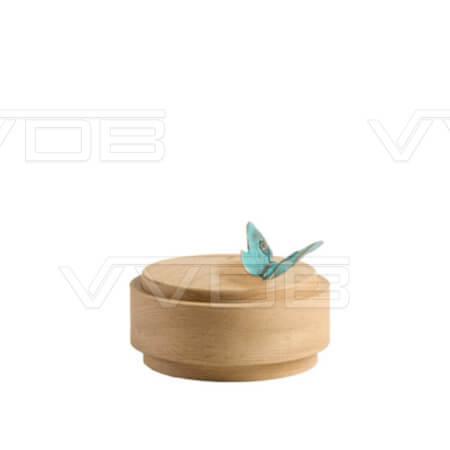 ij en grafzerken VVDB houten urn 351005